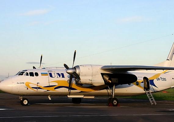 A lezuhant gép egy An-24-es volt, a fotón egy ugyanilyen típusú ukrán repülőeszköz látható.