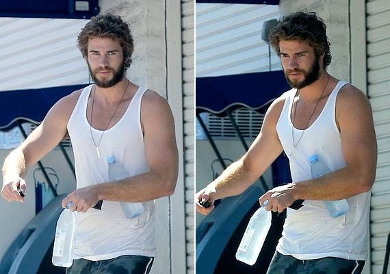 Liamet csütörtökön fotózták le Los Angelesben, amikor éppen edzeni indult. A szakálla és a haja sem mondható csekély méretűnek.