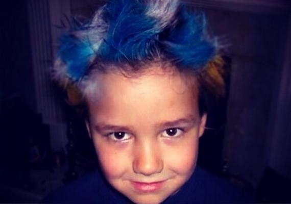 """""""Még az a haj!"""" - sajnos csak ennyit fűzött a régi fotóhoz Liam, aki nagyon aranyos, pufi arcú kisfiú volt."""