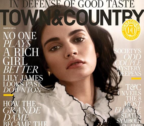 A fotók a kaliforniai Town and Country magazin márciusi számában jelennek meg, melynek címlapján is Lily van.