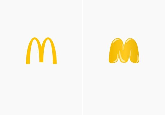A gyorséttermi koszt hizlaló hatását láthatod a McDonald's újragondolt logóján.