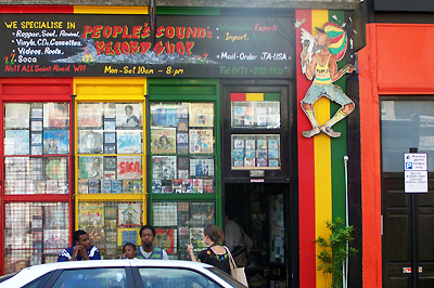 Jamaikai bakelit lemezbolt Notting Hillben