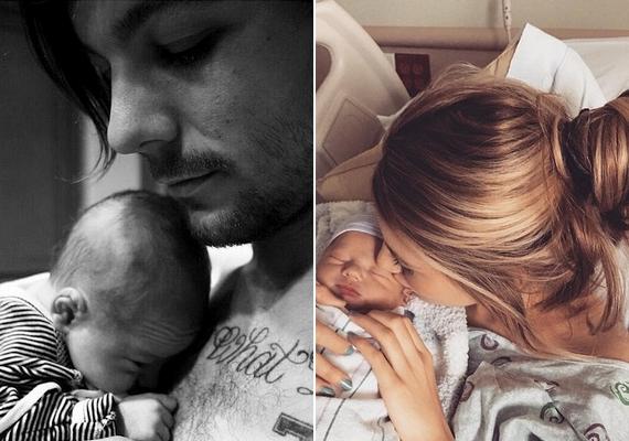 Louis és Briana is töltött fel fotót a tündérien cuki babáról, akit Freddie-nek kereszteltek. Az apuka a Twitteren, az anyuka az Instagramon mutatta be a kisfiút a világnak.