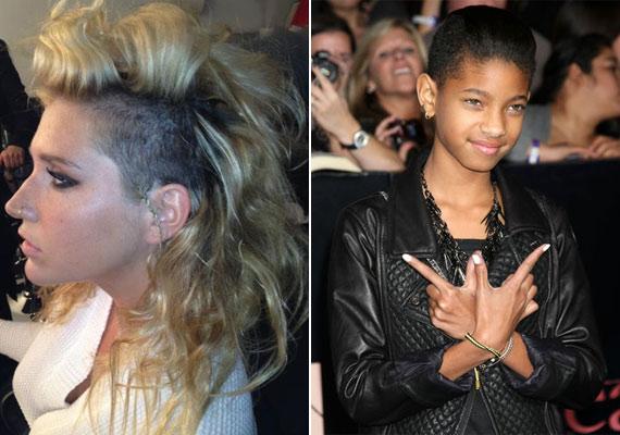...akárcsak Ke, valamint a mindössze 11 éves Willow Smith.