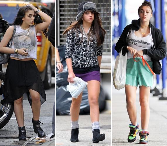 A szoknyát és a rövidnadrágot is elég sajátos módon viselte.