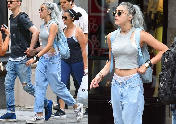 Éppen olyan lázadó, mint Madonna, nála természetes, hogy ezüstszínű a haja, vagy éppen kilóg a bugyija a nadrágból az utcán.