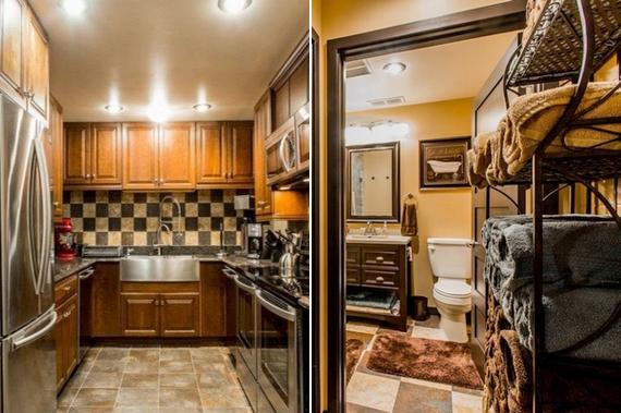A konyha és a fürdőszoba is a legmodernebb holmikkal van felszerelve.