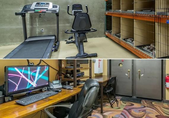 Még szabadidő központ is van: ide tartozik az állatmegőrzővel egybekötött edzőterem és a számítógépterem.