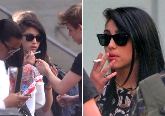 Talán Madonna lázadó hajlamát is örökölte: a mindössze 16 éves Lourdes már most cigarettázik.