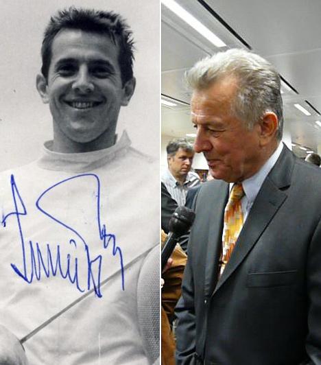 Schmitt Pál  A köztársasági elnök kétszeres olimpiai bajnok párbajtőrvívó. A baloldali kép 1970-ben készült. Schmitt akkor 28 éves volt.  A köztársasági elnök jövőre már a 70. születésnapját fogja ünnepelni. Tény, hogy ez egyáltalán nem látszik rajta.