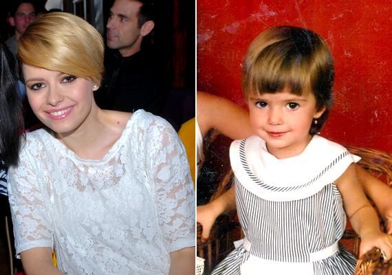 A magyar énekesnő, Lola aranyos pofija és hatalmas szemei elbűvölő kislánnyá tették őt.
