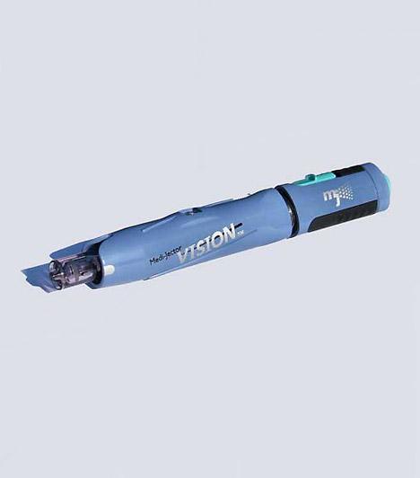 Tű nélküli oltókészülék  A tű nélküli oltókészülék, mely többek között az inzulin adagolását is megkönnyíti a cukorbetegeknek, a magyar születésű mérnök, Lindmayer István nevéhez fűződik. A tű titka a nagy sebesség: a hatóanyag 400 km/h sebességgel lövell ki a patronból, így az oltóanyag beadása alig fél másodpercet vesz igénybe. A művelet teljes mértékben fájdalommentes.