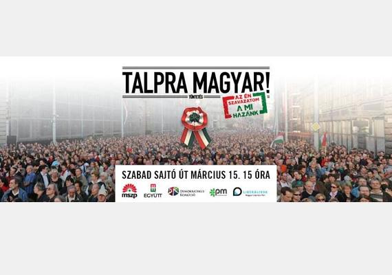 Azért van komoly március 15-i plakátja is az ellenzéknek.