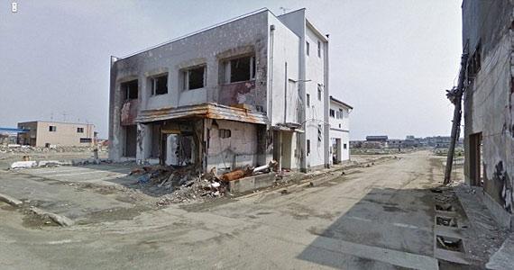 Az épületekből csak romok maradtak.