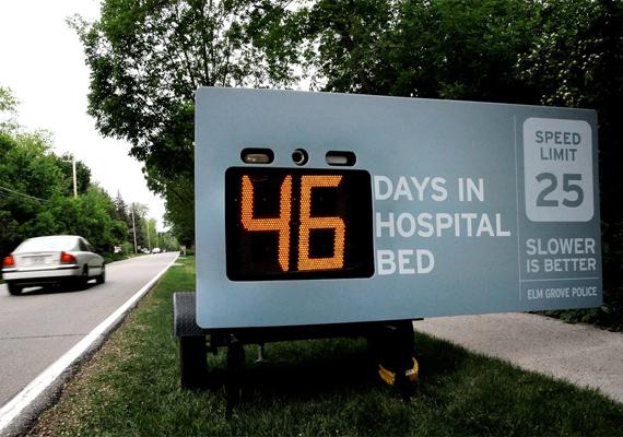 46 nap egy kórházi ágyban. A lassúság jobb. Érdekes koncepció, félre kell nézni a vezetésből, hogy az ember elolvashassa a feliratot és a tudatába kerüljön, miről is szól. Ez még 46 mérföldes sebességnél is veszélyes.