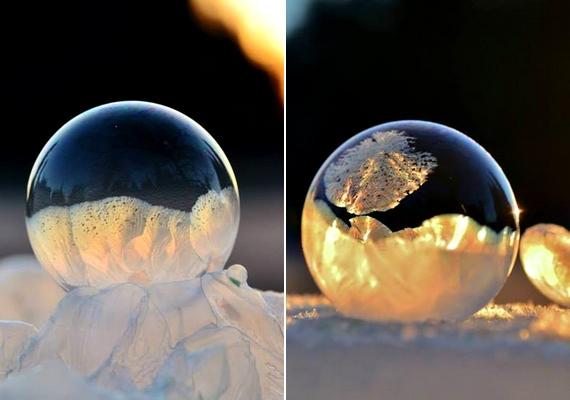 Nem minden buborék fagyott meg teljesen.