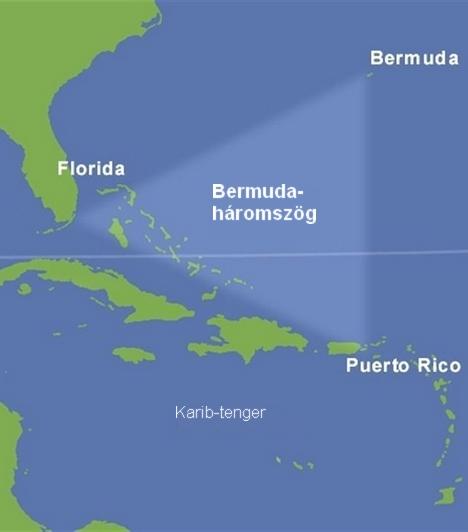 Eltűnések a Bermuda-háromszögbenA Bermuda-háromszöget az ördög háromszögeként is emlegetik. Az elnevezés abból adódik, hogy a térség határai képzeletbeli háromszöget alkotnak, és számos rejtélyes, megoldatlan vagy megmagyarázhatatlan eltűnés fűződik a területhez. Sokan misztikus erőt tulajdonítanak a helynek, mások szerint azonban a Bermuda-háromszög rejtélye nem más, mint egy jól felfújt legenda.Kapcsolódó cikk:A Bermuda-háromszög legrejtélyesebb esete »