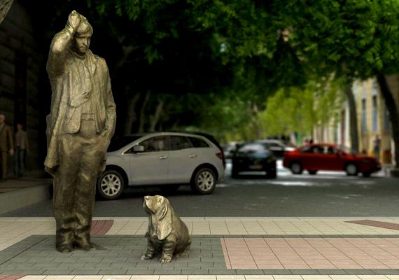 A felújítandó lipótvárosi Falk Miksa utca egyik terén tervezik kiállítani a tévésorozatból ismert Columbo és kutyája alakját.