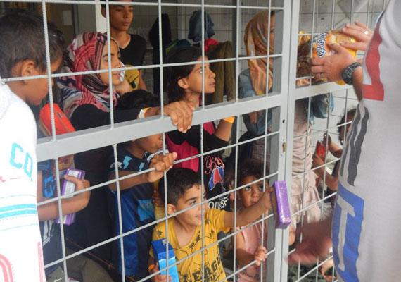 A hétvégi razzia során mintegy száz gyereket is előállítottak a határrendészek. Nekik vittek élelmiszert az Age of Hope Alapítvány munkatársai. A gyerekeket az őrizet alatt nem választották el szüleiktől.