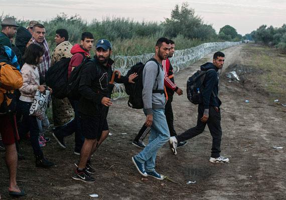 A kormány által elrendelt pengés drótakadály sem volt útban, ugyanis a sínek mentén simán átjöttek a határon a menekültek.