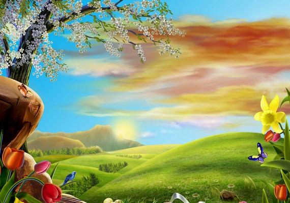 Mesebeli tavaszi táj.Kattints ide a nagyobb felbontású képért! »