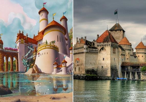 Emlékszel Eric herceg kastélyára A kis hableány történetéből? Az épülethez Chillon vára adott ihletet, amely Svájcban található.