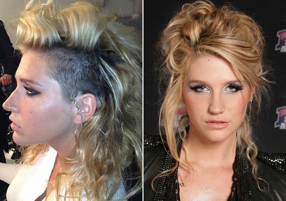 Talán Kesha is jobban járt volna, ha borotvált feje helyett a hangjával próbálta volna felkelteni az érdeklődést. Ez már-már frizurakatasztrófa.