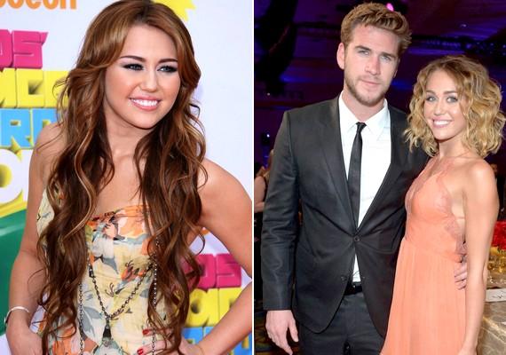 Mintha a mostani Miley és a barna hajú tinisztár, illetve Liam Hemsworth csinos jegyese nem egy és ugyanaz a személy lenne.
