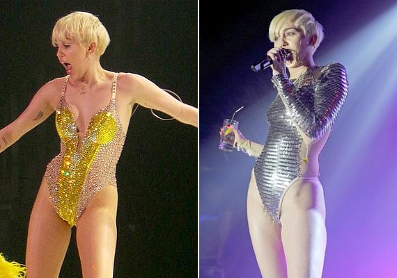 Nagy kedvencei az alaposan kivágott, fémes dresszek, amelyekkel korábban sokkolta a közönséget - most már ez is egészen réteges öltözéknek tűnik az énekesnőhöz képest.