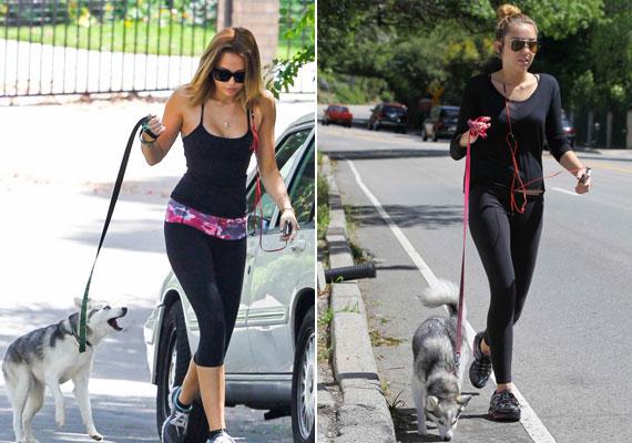 Miley szívesen viszi magával futni Floydot.