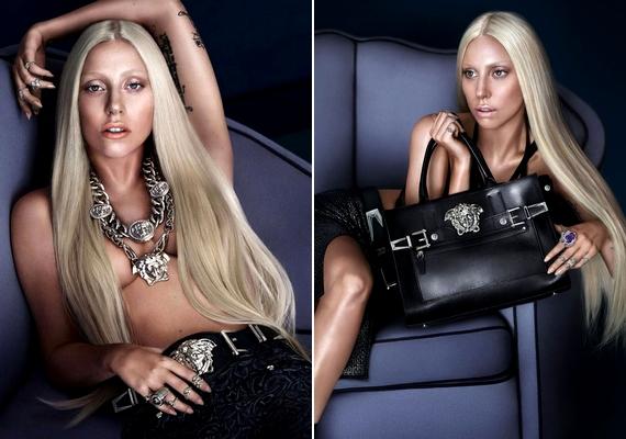Lady Gaga a Versacével dolgozik: még egy félpucér fotót is bevállalt a 27 éves sztár.