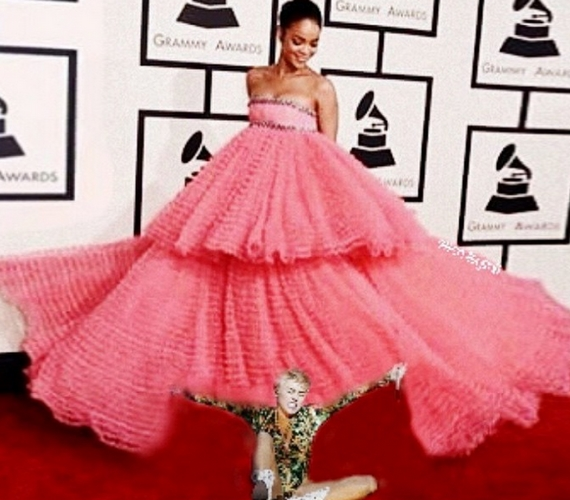 Rihanna habos Grammy-ruhája is megihlette.