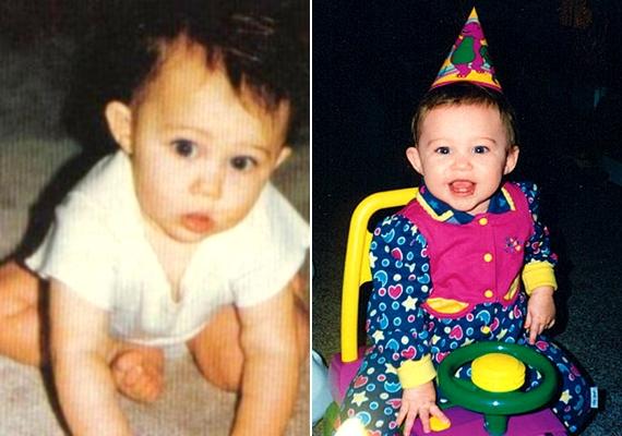 Miley Cyrus imádnivaló, pufók, mosolygós kisbaba volt.