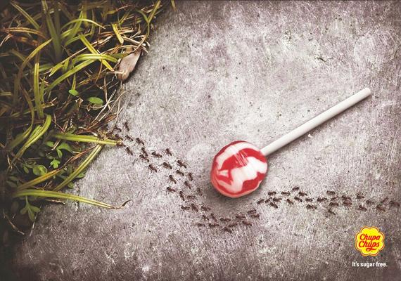 A Chupa Chups cukormentes nyalókája nem roncsolja a fogakat, ezt a terméket kikerülő hangyák bizonyítják.