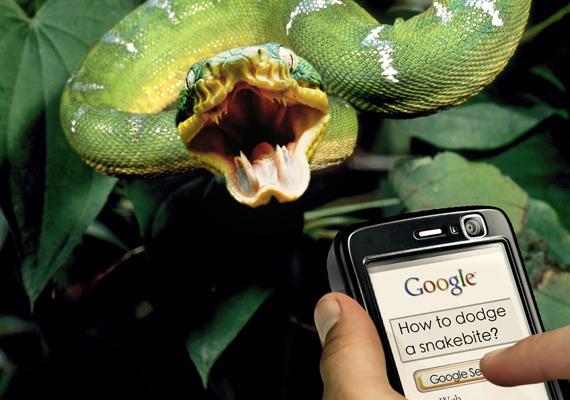 Az EPhone-reklám azt illusztrálja, hogy bárhol és bármikor gyors internetkapcsolatod lehet, ha ezt a készüléket választod.