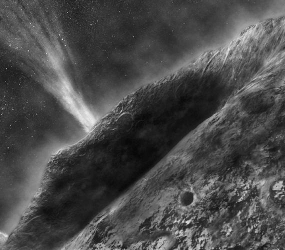 A NASA Stardust űrhajója 2004-ben rögzített egy közeli üstököst, melynek fénysugarai csodaszépen világítanak.