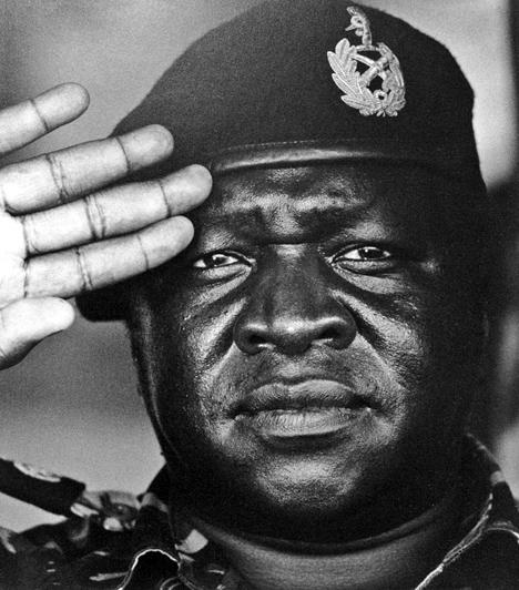 Idi Amin  Az ugandai hóhérnak is nevezett Idi Amin Dada az 1970-es évek Ugandájának despotikus, brutális módszerekkel operáló elnökeként írta be magát a történelemkönyvekbe. Csupán nyolc évig uralkodott, ám azon ellenségeinek számát, akiket kivégzett, megkínzott és bebörtönzött, 100 ezer és félmillió közötti számra becsülik. Hatalommániáját súlyosbította mániás depressziója és alkoholizmusa, emellett a legendák úgy tartják, hitt a véráldozatokban, kannibál volt, ellenségei fejeit pedig hűtőjében tárolta.