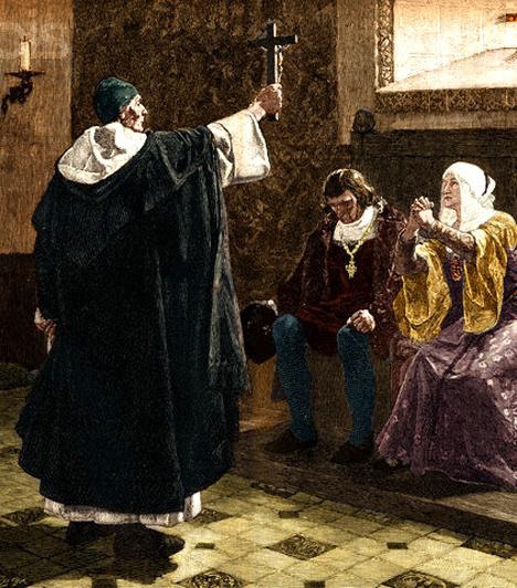 Tomas de Torquemada  Torquemada Kasztíliai Izabella uralkodása idején, 1481 és 1498 között volt spanyol főinkvizítor. Nevéhez kapcsolódik a kis holokausztnak nevezett népirtás is, célja a spanyolországi zsidók és muzulmánok kiűzése, illetve leszámolása volt. Ezreket mészároltatott le, közöttük olyanokat is, akiknek csupán távoli ősei nem rendelkeztek az általa tisztának tartott vérrel.