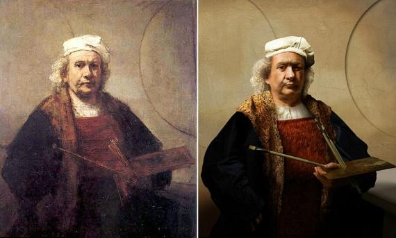 Rembrandt önarcképét is kezelésbe vették, így még pontosabb képet kaptunk a festő külsejéről.