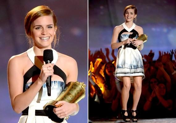 Idén Emma Watson vihette haza a Trailblazer-, azaz úttörődíjat, mert a színésznő a legkülönbözőbb szerepekben is hatalmasat tud alakítani.
