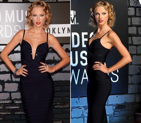 Taylor Swift valódi dívaként jelent meg az eseményen. A sztár nagy sikert aratott nőies külsejével.