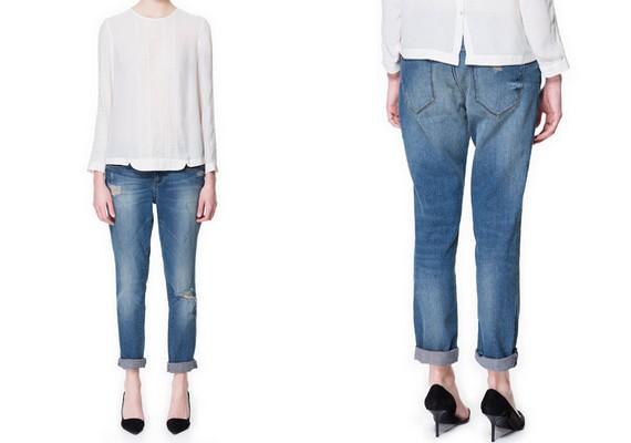 Ha magas és telt vagy, a boyfriend nadrág jó választás lehet - Zara, 9995 forint.