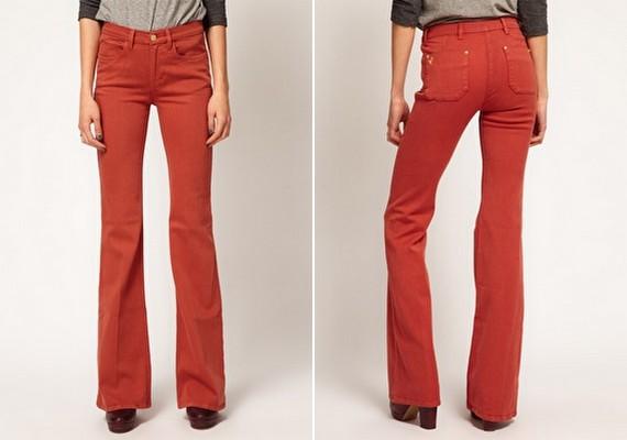 Ha valami világosabb színt viselnél, akkor inkább lefelé bővülő, trapézszabású nadrágot vegyél fel.