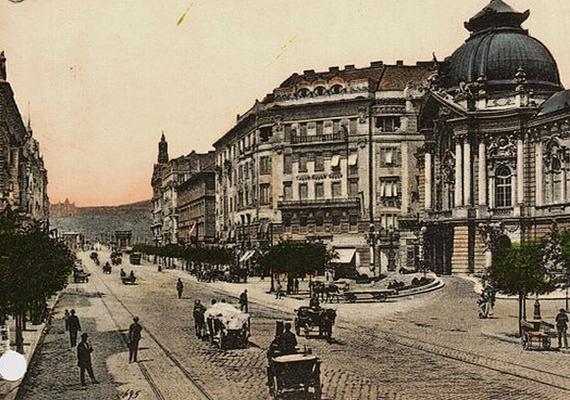 Ilyen volt a Szent István, vagy akkoriban Lipót körút 1911-ben, egy korabeli képeslapon.