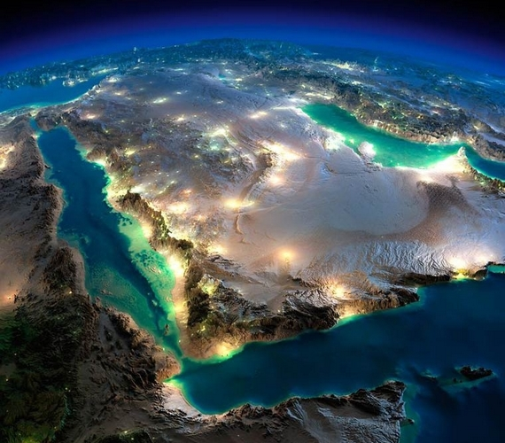 Jól látszik a fotókon, hogy melyek a lakatlan, sivatagos területek.