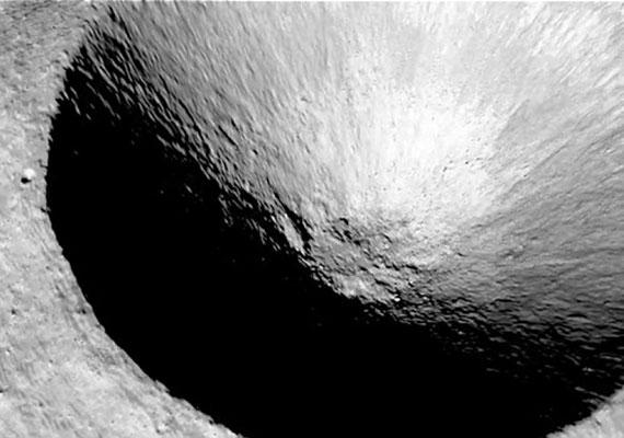 A barátságtalan tájat kráterek...