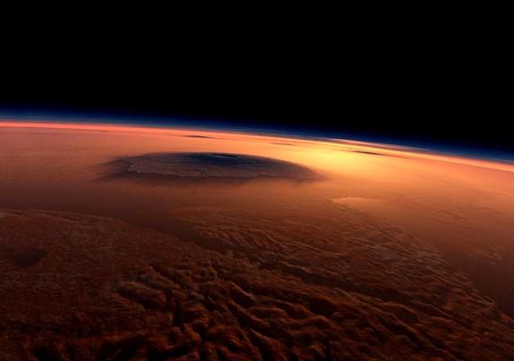 A Mars domborzata.