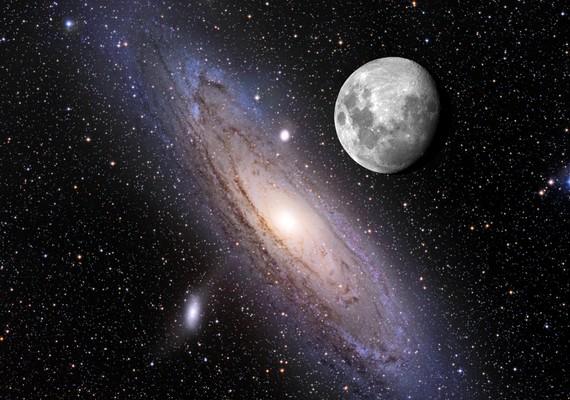 Az Andromeda csillagkép és a telihold - augusztus 1.