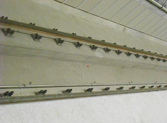 Minden állomáson megtalálható a sínek közötti mélyített alagút, az úgynevezett életvédelmi háló, amely életet menthet, hiszen, ha beleesik valaki véletlenül, a szerelvény el tud haladni fölötte. Ilyen esetben egyébként a rendszer automatikusan áramtalanítja a sínt.