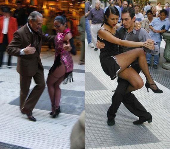 ArgentínaBuenos Aires a tangó egyik őshazája, ahol régen a piros lámpás negyedben táncolták, ma azonban már a legforgalmasabb sétálóutcákon is táncra perdülnek a tangósok.